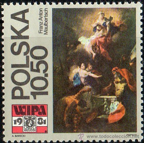 POLONIA AÑO 1981 YV 2552*** EXPOSICIÓN FILATÉLICA WIPA'81 EN VIENA - PINTURA - ARTE (Sellos - Extranjero - Europa - Polonia)