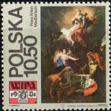 Sellos: POLONIA AÑO 1981 YV 2552*** EXPOSICIÓN FILATÉLICA WIPA'81 EN VIENA - PINTURA - ARTE. Lote 23540179