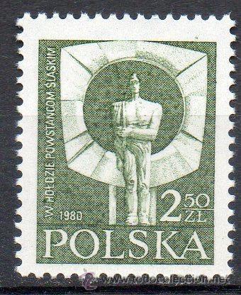 POLONIA AÑO 1981 YV 2544*** MEMORIAL DEL 60 ANVº DE LA SUBLEVACIÓN DE LA ALTA SILESIA - ESCULTURA (Sellos - Extranjero - Europa - Polonia)