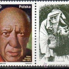 Sellos: POLONIA AÑO 1981 YV 2545*** CENTº DEL NACIMIENTO DE PABLO PICASSO - PINTURA - PERSONAJES - ARTE. Lote 23540250