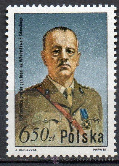 POLONIA AÑO 1981 YV 2553*** W. E. SIKORSKI - PERSONAJES - UNIFORMES MILITARES (Sellos - Extranjero - Europa - Polonia)