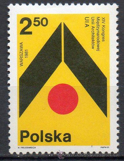 POLONIA AÑO 1981 YV 2555*** CONGRESO DE ARQUITECTOS - ARQUITECTURA (Sellos - Extranjero - Europa - Polonia)