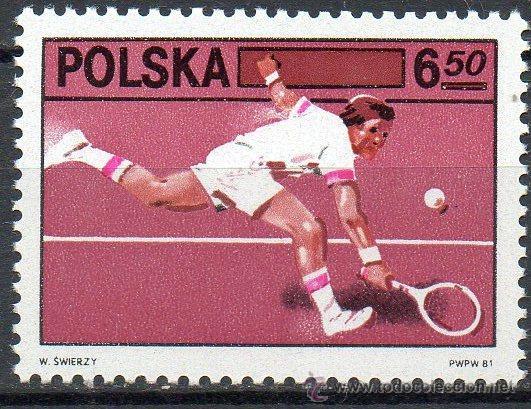POLONIA AÑO 1981 YV 2572*** ASOCIACIÓN DE TENIS - DEPORTES (Sellos - Extranjero - Europa - Polonia)