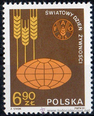 POLONIA AÑO 1981 YV 2592*** DÍA MUNDIAL DE LA ALIMENTACIÓN - FAO - AGRICULTURA - ALIMENTOS (Sellos - Extranjero - Europa - Polonia)