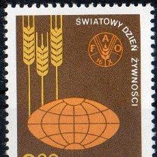 Sellos: POLONIA AÑO 1981 YV 2592*** DÍA MUNDIAL DE LA ALIMENTACIÓN - FAO - AGRICULTURA - ALIMENTOS. Lote 23540419
