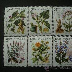 Sellos: POLONIA 1980 IVERT 2523/8 *** PLANTAS MEDICINALES - FLORA. Lote 25074609