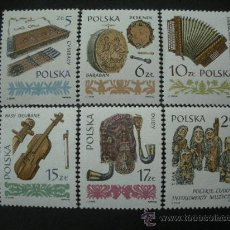 Sellos: POLONIA 1984 IVERT 2711/6 *** INSTRUMENTOS MUSICALES DEL FOLKLORE POLACO. Lote 25129218