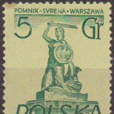 Selos: POLONIA 1955 SCOTT 668 SELLO ** MONUMENTOS DE VARSOVIA MEMAID SIRENA POMNIK MICHEL 907 YVERT 802. Lote 25765401