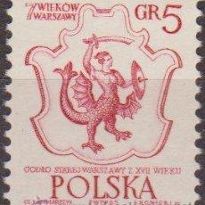 Selos: POLONIA 1965 SCOTT 1334 SELLO ** ESCUDO DE ARMAS DE VARSOVIA MICHEL 1597 YVERT 1449 POLSKA STAMPS. Lote 25786890