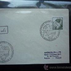 Sellos: POLONIA. 1970. SOBRE Y SELLO KAROL MONDRAL. Lote 29365915