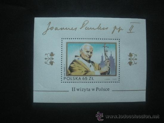POLONIA 1983 HB IVERT 99 *** SEGUNDA VISITA DEL PAPA JUAN PABLO II A POLONIA - RELIGIÓN (Sellos - Extranjero - Europa - Polonia)
