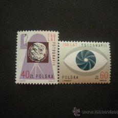 Sellos: POLONIA 1989 IVERT 3038/9 *** 150º ANIVERSARIO DE LA FOTOGRAFÍA. Lote 30123364