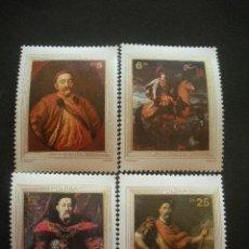 Sellos: POLONIA 1983 IVERT 2691/4 *** TRICENTANARIO DEL LEVANTAMIENTO DE VIENA - PINTURA - REY JUAN III. Lote 30241662