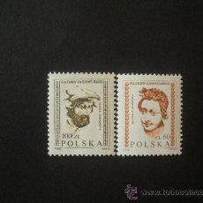 Sellos: POLONIA 1982 IVERT 2643/4 *** SERIE BÁSICA - ESCULTURAS CASTILLO DE WAVEL. Lote 30241853