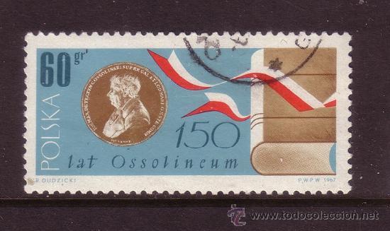 POLONIA 1668 - AÑO 1967 - 150º ANIVERSARIO DEL INSTITUTO NACIONAL DE CIENCIA Y CULTURA OSSOLINSKI (Sellos - Extranjero - Europa - Polonia)