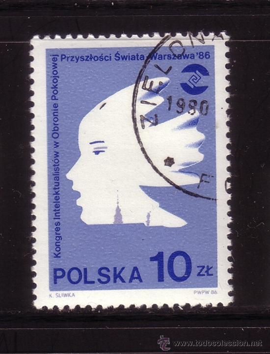 POLONIA 2823 - AÑO 1986 - CONGRESO DE INTELECTUALES POR LA DEFENSA DE LA PAZ (Sellos - Extranjero - Europa - Polonia)