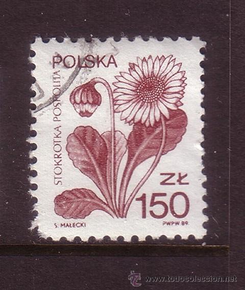 POLONIA 3041 - AÑO 1989 - FLORA - PLANTAS Y FLORES (Sellos - Extranjero - Europa - Polonia)
