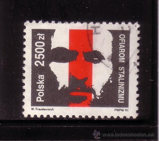 POLONIA 3143 - AÑO 1991 - EN MEMORIA DE LAS VICTIMAS DEL ESTALINISMO (Sellos - Extranjero - Europa - Polonia)