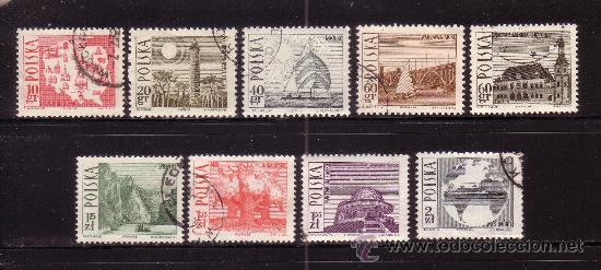 POLONIA 1555/63 - AÑO 1966 - TURISMO - PAISAJES Y MONUMENTOS - BARCOS (Sellos - Extranjero - Europa - Polonia)