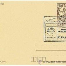 Sellos: TARJETA PREFRANQUEDADA POLAND POLONIA - PHILATELY EXHIBITION ELTRA 83 RADIO RECEIVER. Lote 35420654