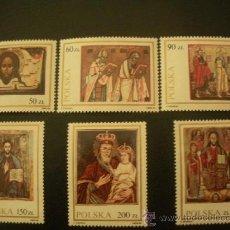 Sellos: POLONIA 1989 IVERT 3043/8 *** PINTURA RELIGIOSA - ICONOS DEL MUSEO DE LANCUT . Lote 36832353
