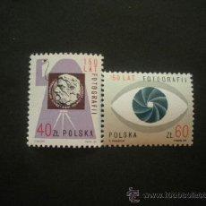 Sellos: POLONIA 1989 IVERT 3038/9 *** 150º ANIVERSARIO DE LA FOTOGRAFÍA . Lote 36832428