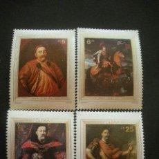 Sellos: POLONIA 1983 IVERT 2691/4 *** TRICENTANARIO DEL LEVANTAMIENTO DE VIENA - PINTURA - REY JUAN III. Lote 37254030