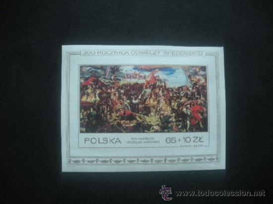 POLONIA 1983 HB IVERT 101 *** TRICENTENARIO LEVANTAMIENTO DEL SITIO DE VIENA - PINTURA (Sellos - Extranjero - Europa - Polonia)