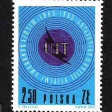 Sellos: POLONIA 1437** - AÑO 1965 - CENTENARIO DE LA UNION INTERNACIONAL DE TELECOMUNICACIONES. Lote 42925962