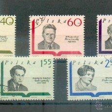 Sellos: POLONIA - ESCRITORES .- SELLOS DE 1969 Nº 1829 Y SIGUIENTES. Lote 44904784