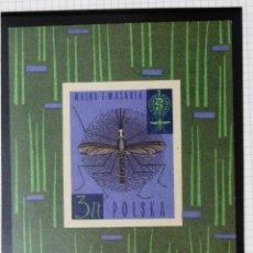 Francobolli: HB POLONIA 1962. ERRADICACION DE LA MALARIA. NUEVA.. Lote 45780430