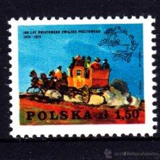 Sellos: POLONIA 2148** - AÑO 1974 - CENTENARIO DE LA UNION POSTAL UNIVERSAL - DILIGENCIA. Lote 234142370