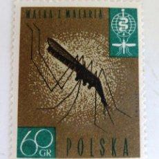 Francobolli: SELLOS POLONIA 1962 NUEVO. ANTI MALARIA. ANTIPALUDISMO.. Lote 50070558