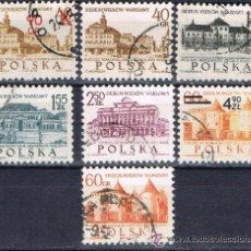 Sellos: POLONIA - LOTE 7 SELLOS - EDIFICIOS (USADO). Lote 50681412
