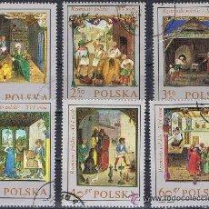 Sellos: POLONIA - LOTE 6 SELLOS - PINTURA (USADO). Lote 50697772