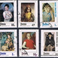 Sellos: POLONIA - LOTE 6 SELLOS - PINTURA (USADO) LOTE 34. Lote 50739390