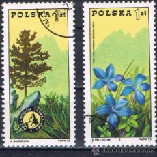 Sellos: POLONIA - LOTE 2 SELLOS - PLANTAS (USADO) LOTE 47. Lote 50778368