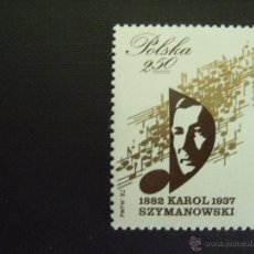 Sellos: POLONIA Nº YVERT 2626*** AÑO 1982 CENTENARIO NACIMIENTO COMPOSITOR KAROL SZYMANOWSKI. . Lote 52355162