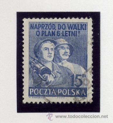 Sellos: POLONIA - LOTE DE 120 SELLOS DISTINTOS ENTRE 1939 Y 1959 - USADOS Y NUEVOS - VER FOTOS DE TODOS - - Foto 23 - 52734381