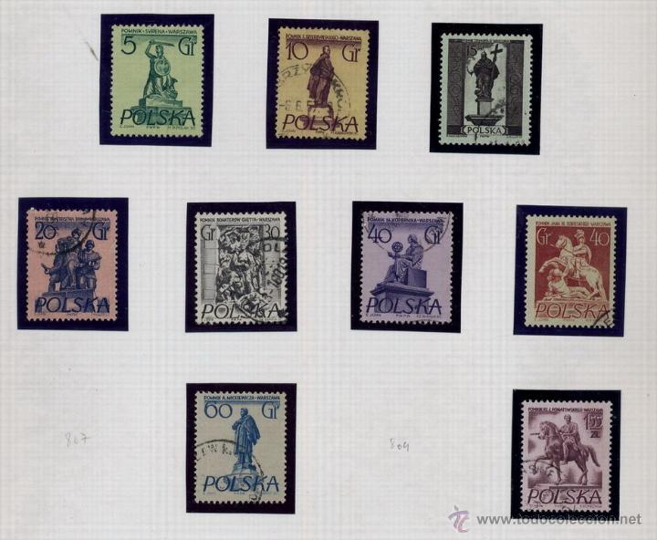 Sellos: POLONIA - LOTE DE 120 SELLOS DISTINTOS ENTRE 1939 Y 1959 - USADOS Y NUEVOS - VER FOTOS DE TODOS - - Foto 43 - 52734381