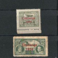Sellos: POLONIA 1934 CORREO AEREO DESAFIO INTERNACIONAL DE AVIACION. Lote 56301396