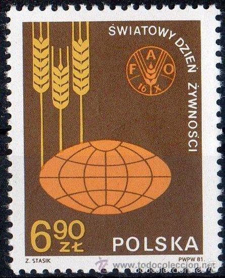 POLONIA / POLSKA AÑO 1981 YVERT Nº 2592 ** MNH - DÍA MUNDIAL DE LA ALIMENTACIÓN - FAO - AGRICULTURA (Sellos - Extranjero - Europa - Polonia)
