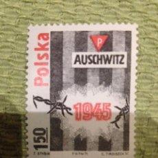 Sellos: SELLO POLONIA CONMEMORATIVO AUSCHWITZ 1945. Lote 58709471