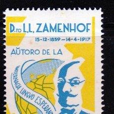 Sellos: 1959, LL. ZAMENHOF. CREADOR DE LA LENGUA ESPERANTO**,MH. Lote 61960368