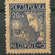 Sellos: POLONIA 1927 SOBRETASA A BENEFICIO DE LA ENSEÑANZA NUEVO SIN CHARNELA. FINAL DE SERIE. Lote 62265208