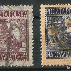 Sellos: POLONIA 1927 SOBRETASA A BENEFICIO DE LA ENSEÑANZA. Lote 62265428