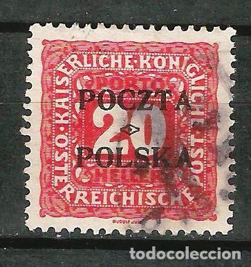 POLONIA 1919 GOBIERNO PROVISIONAL. TASA SELLO DE TASA DE AUSTRIA DE 1916 (Sellos - Extranjero - Europa - Polonia)