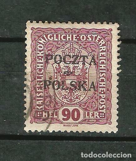 POLONIA 1919 GOBIERNO PROVISIONAL. SELLO DE AUSTRIA DE 1916-18 YVERT 88 (Sellos - Extranjero - Europa - Polonia)