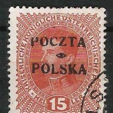 Sellos: POLONIA 1919 GOBIERNO PROVISIONAL SELLO DE AUSTRIA DE 1916-18 SOBRECARGADO EN CRACOVIA.. Lote 62814964