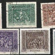 Sellos: POLONIA. 1960 OBRAS DE ARTE NACIONALES SERIE COMPLETA. Lote 66862782